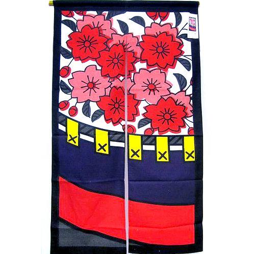 Cherry Blossom Hanafuda Noren