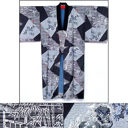 Lions Silk Naga-Juban Kimono