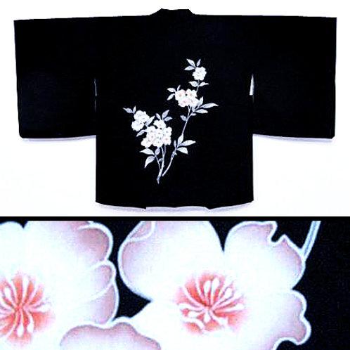 Hydrangea Black Silk Haori