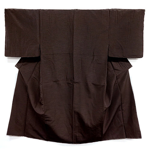 A Handsome Dark Brown Kimono L