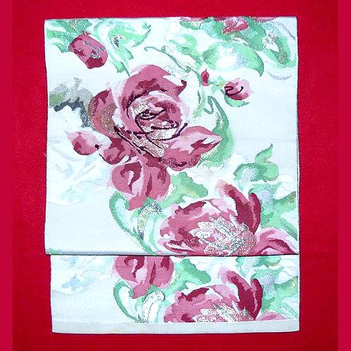 Roses 2 Part Silk Tsuke Obi
