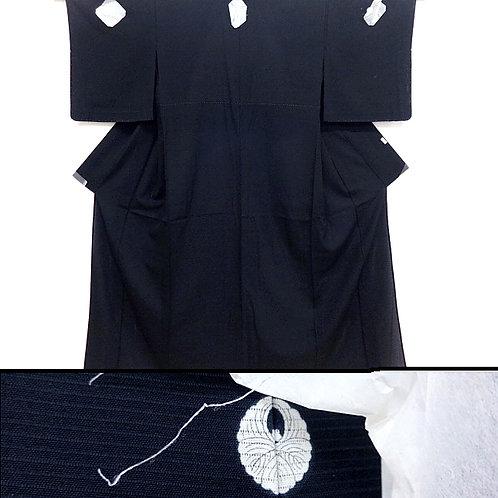 Black Ro Silk Kimono - A