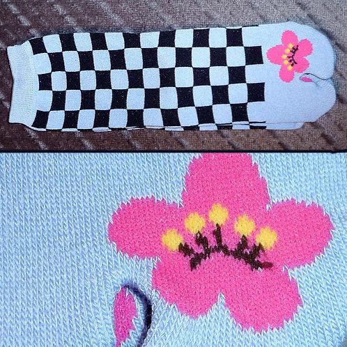 Blossom Toe Check Tabi