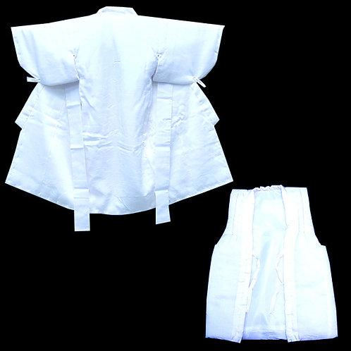 Child's White Silk Kimono & Hifu