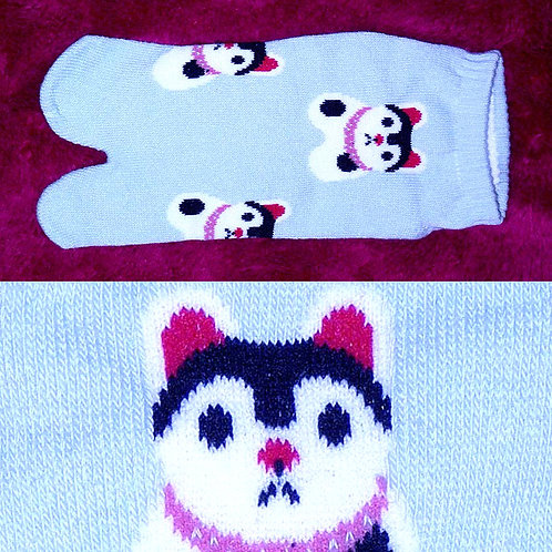 Cat Blue Short Tabi