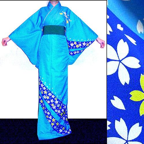 Blossom on Blue Kimono