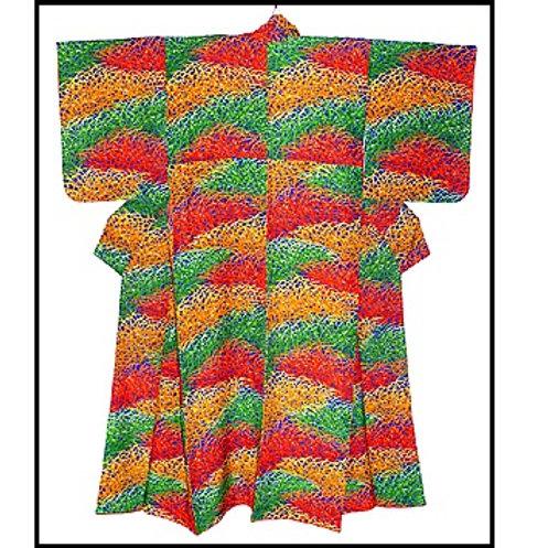 All Colourful Grasses Komon Kimono