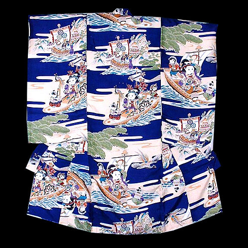 Samurai, Monkey & Dog, Boy's Kimono