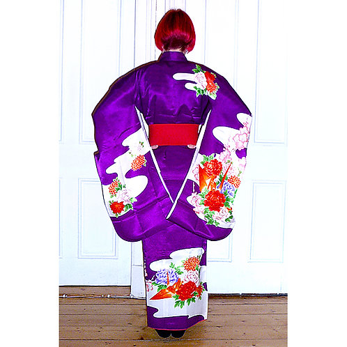 Purple Kimono & Juban Set