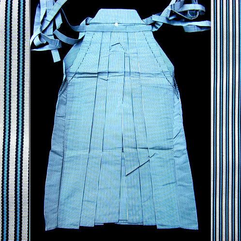 Blue & Grey Striped Silk Andon Hakama