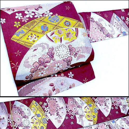 Deep Pink Silk Nagoya Obi