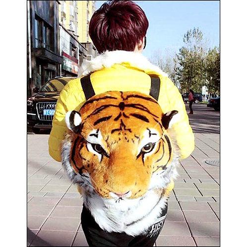 Huge Brown Tiger Backpack Bag - B