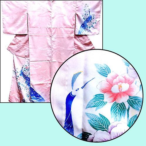 Fabulous Peacock Pink Kimono