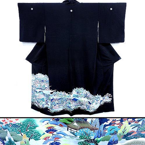 Gorgeous Scenery Tomesode Kimono