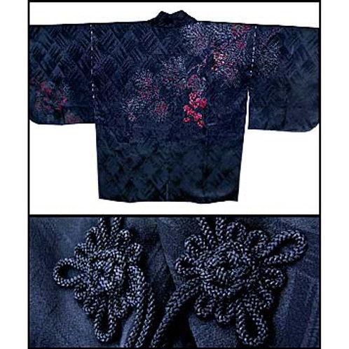 Black Urushi Silk Dochugi