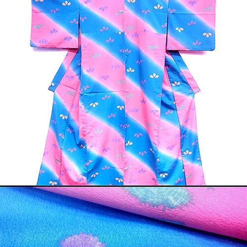 Blue & Pink Banded Kimono