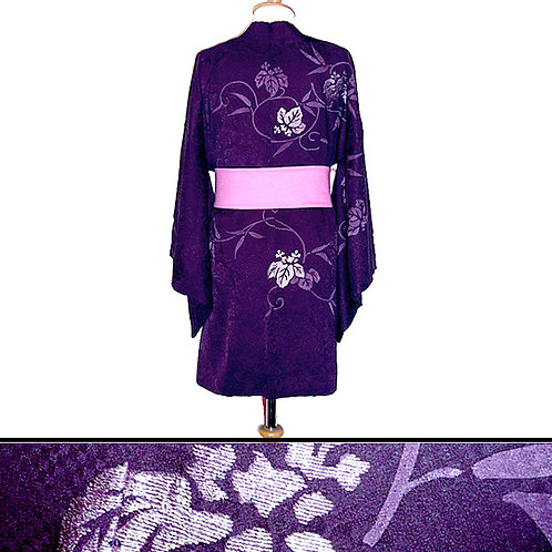 Beautiful Purple Kiri Haori