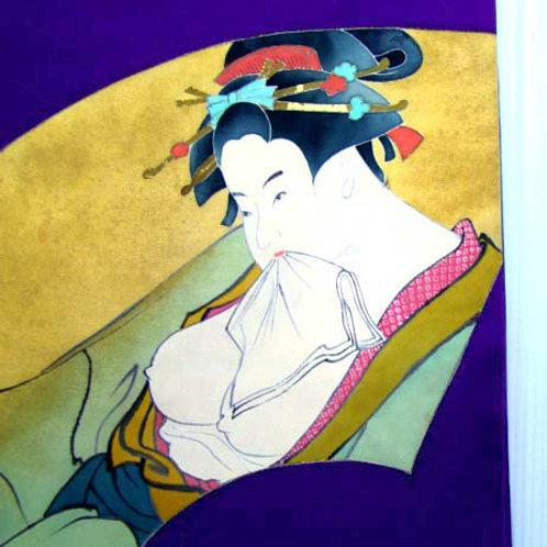Bare Breasted Geisha Nagoya Obi
