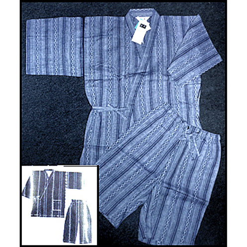 Dark Navy Striped Jinbei L
