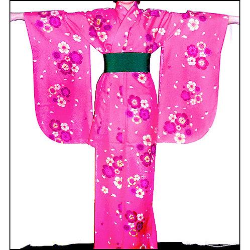 Bright Pink Ko-Furisode Kimono