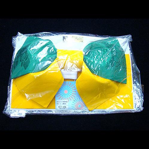 Green & Yellow 2 Part Bow Obi
