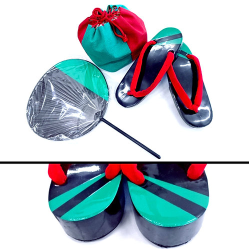 Geta, Fan & Bag Set