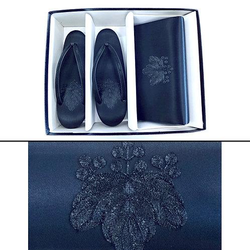 Black Paulownia Zori & Bag