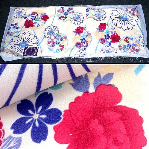 Cream Floral - Washable New Kimono - L