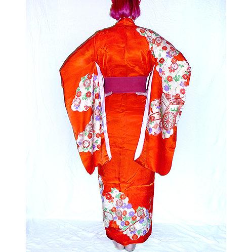 Gosho Guruma Red Kimono