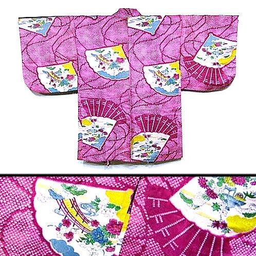 Fans & Shibori Print Haori