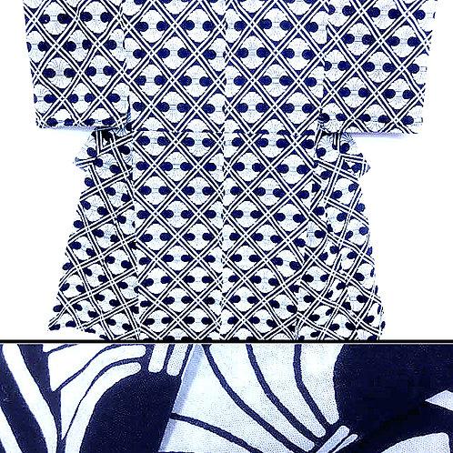 Black and White Yukata Kimono