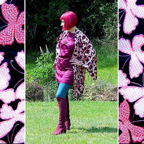 Butterflies Black & Pink Haori