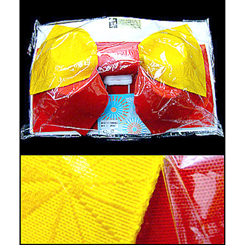 2 Part Red & Yellow Bow Obi