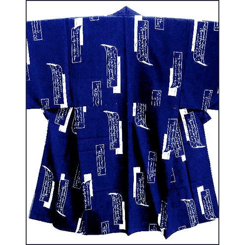 Blue Kimono Tanzaku Design