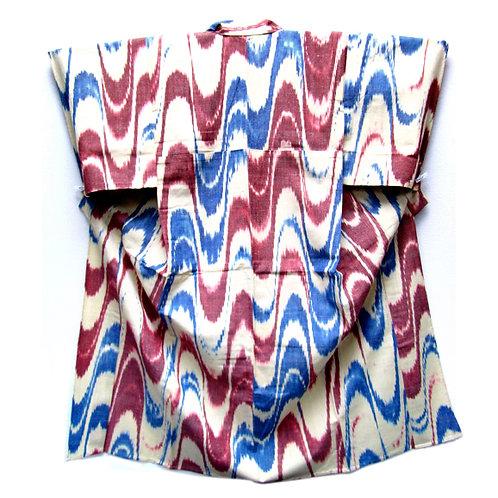 Tsubodare Pattern Wool Kimono