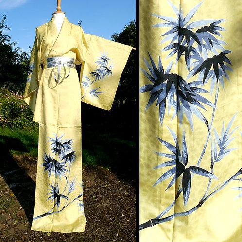 Beautiful Bamboo Leaves Kimono