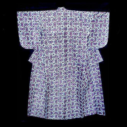 Butterfly Meisen Silk Kimono