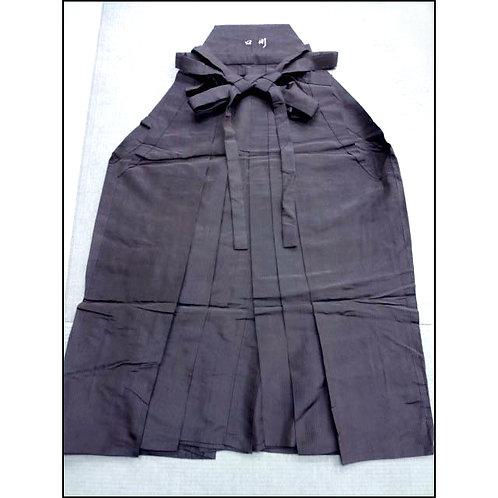 Dark Brown Striped Silk Hakama
