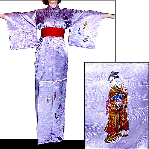 Adorable Geishas on Lilac