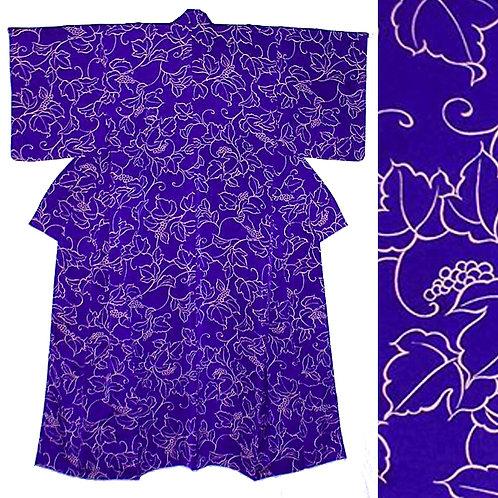 Grape Vines Purple Kimono