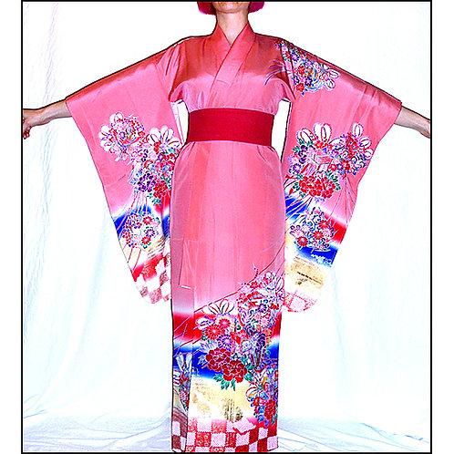 Flowers Pink Kimono