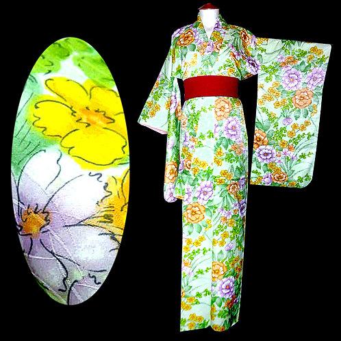 Floral Green Ko Furisode