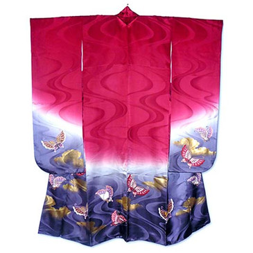 Butterflies furisode kimono