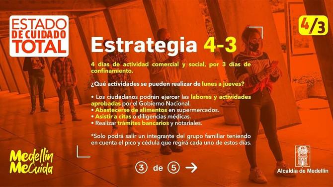 Medellín de la mano del Gobierno Nacional, decretó cuarentena este fin de semana.