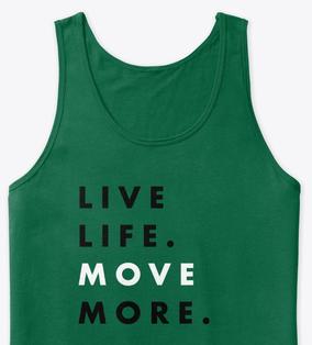 live life move more tee monochrome