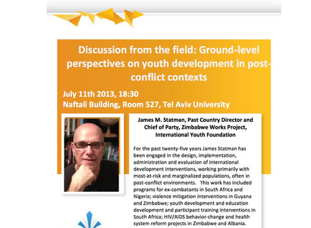 Discussion From the Field: Ground-Level Perspectives on Youth Development in Post-Conflict Contexts