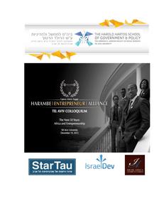 The Harambe Tel Aviv Colloquium