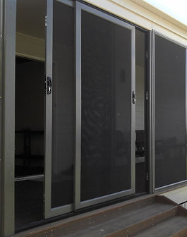 Panther Protect stainless steel mesh security door stacked sliding doors