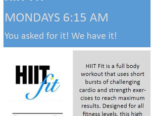 NEW MORNING HIIT CLASS!