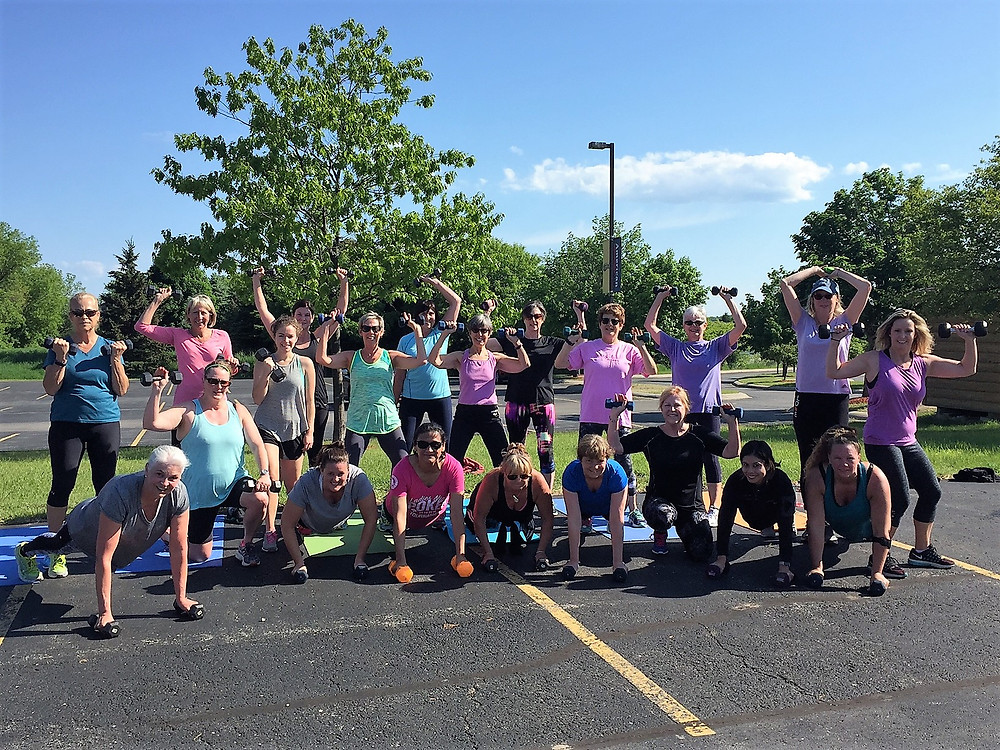 Body Works Class was held outside today!